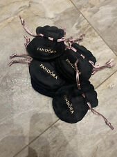 10 X PANDORA GIFT Charm POUCHES Bags Brand New Velvet Black & Pink Bundle