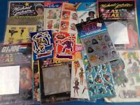Vintage 1980s 90s Stickers  E.T He Man A Team Pop Music Star Wars - Choose Pack!