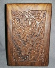 Carved Hard Wood Urn for small Pets.  New in bag.
