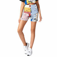 adidas Originals Womens Rita Ora Comic Print Tight Shorts Fashion Pants