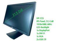 HP Z22i - 21,5 Zoll IPS Monitor, Full-HD Bildschirm, DisplayPort, DVI, 16:9 LED