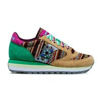 Saucony Jazz Triple W SMU Sneaker Donna 60497 3 Brown Green Pink