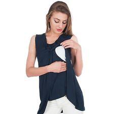 NEW Maternity Sleeveless Nursing Breastfeeding Twisted Tank Top  My Bella Mama™