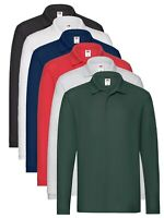 Fruit of the Loom Manches Longues Coton Piqué Polo