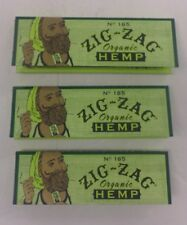 ZIG ZAG 78 MM 1 1/4 SIZE ORGANIC HEMP CIGARETTE ROLLING PAPERS - 3 PACKS