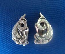 Silver Iona Sea Serpant Earrings - Hamish Dawson Bowman CAI  c.1950/60s  Clip On