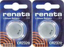 Renata CR2320 2320 Lithium Watch 3 v Batteries 2 Pack