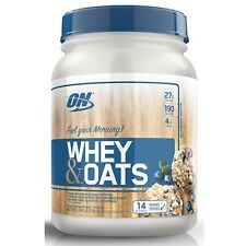 Optimum Nutrition WHEY & OATS 27g Protein 1.54 lb, 14 Servings BLUEBERRY MUFFIN