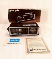 Vintage 1979 Flip Clock AM FM Radio Alarm Clock In Original Box NOS NIB Unused
