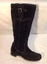 Footglove Black Knee High Suede Boots Size 6.5