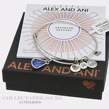 Authentic Alex and Ani Teardrop September Birthstone Rafaelian Silver Bangle