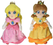 2PCS Super Mario Bros Mario Princess Peach and Daisy Plush Doll Figure Toy 7inch