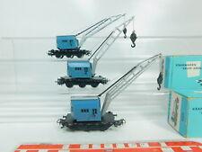 BP114-1 #3x Märklin H0 / Ac 4611 Camion Grue / Wagon de Marchandises