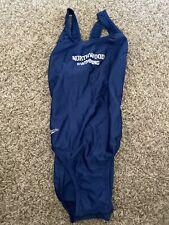 Womens Speedi Swimsuit Northwood Swimming Size 32 Blue