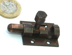 ANTIQUE ART DECO COPPER SMALL CUPBOARD BOLT 1920s-30s