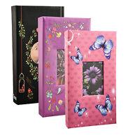 Designer 300 Pockets 6'x4' Photo Album Black, Pink,Purple Album -NEW1123