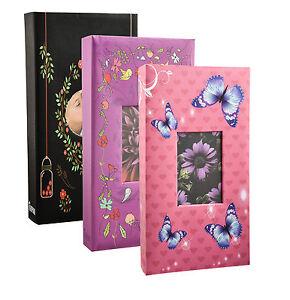 Designer 300 Pockets 6'x4' Photo Album Black, Pink,Purple Album - 1123