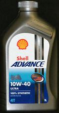 1 Liter Shell Advance Ultra 10W-40 Motorradöl 10W40  4 Takt Vollsynthetisch 4T