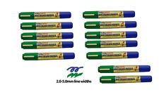 White Board Marker Pens Dry Erase Easy Wipe Dual Bullet Chisel Tip Artline 3pcs