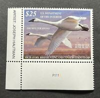 WTDstamps - #RW83 2016 Plate# - US Federal Duck Stamp - Mint OG NH