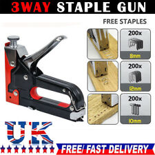 Heavy Duty Staple Gun 3 IN 1 Stapler Tacker With Staples Upholstery UKY5