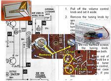 Motorola 7X24W 7X24S 7X23E CH HS-688 Electrolytic Capacitor Recap Kit