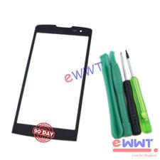 Schwarz Vorder Screen Glas Linse+Werkzeuge für LG Leon 4G LTE H320 H340N ZVGS320
