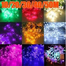 1-50M LED Battery/Solar Fairy String Lights Outdoor Wedding Christmas Patio Lamp