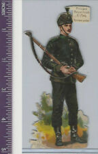 Victorian Diecuts, 1890's, Soldiers, England Private Royal Irish Rifles (54)