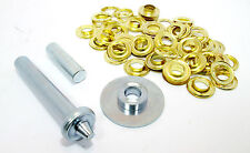 Tarpaulin Repair Kit  30 Brass Coated Grommets / Eyelets  Punch Tool  TZ  TL022