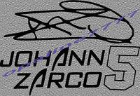 STICKER AUTOCOLLANT SIGNATURE ZARCO JOHANN AUTOGRAPHE MOTO 2 MOTO CASQUE