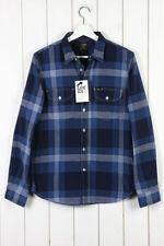 Camisas casuales de hombre en color principal azul 100% algodón