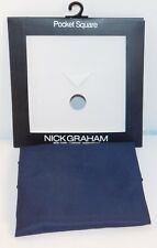 Nick Graham Pocket Square Handkerchief Suit Accessory Navy Blue O/S NEW