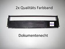 2x Farbband f Epson LQ570 Epson LQ570e LQ570+ schwarz druckend Nylon fusselfrei