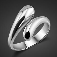 Women's 925 Silver Plated Ring Classic Drop Water Fashion Jewelry Xmas gift