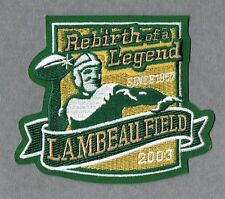 Green Bay Packers Rebirth of a Legend AUTHENTIC Patch