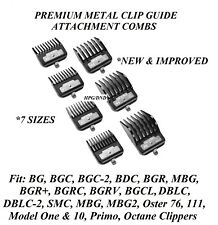 ANDIS Barber HairStylist PREMIUM METAL CLIP GUIDE COMB*Fit Supra ZR,BGS Clippers