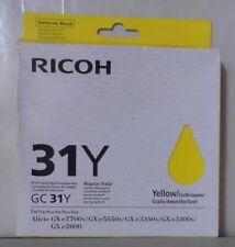 Ricoh Druckpatrone 31Y  yellow Aficio GX e 5550N 7700N 3350N 3300N  405691 OVP