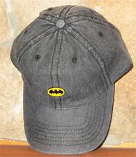 DC COMICS METAL PIN DAD HAT BATMAN Ball Cap Adjustable Slouch Hat Golf Black