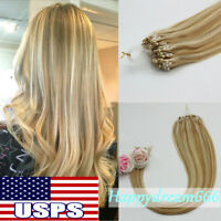 Loop Micro Rings Beads Tip Remy Human Hair Extensions 1g/s 50gr with Salon Style
