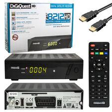 DigiQuest HD 8212 SAT Receiver HDMI + SCART mit USB PVR Aufnahme FULL HDTV 1080p
