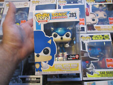 FUNKO POP GAMES SONIC THE HEDGEHOG SONIC WITH RING # 283 METALLIC GAMESTOP NEW