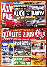 AUTO PLUS du 28/07/2009; 4x4 Sans Malus/ Peugeot 207-Clio/ Enquête qualité