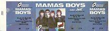 RARE / TICKET DE CONCERT - MAMA' S BOYS LIVE A REIMS ( FRANCE ) 1988 / UNUSED