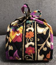 Vera Bradley Small Travel Makeup cosmetics fold up Case  bag