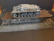 Pro built Sturmgeschutz III Ausf.B and Schwerer Plattformwagen Type SSy Railcar