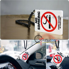 No Smoking Sign Car Rearview Mirror Hanging Charm Dangling Pendant Ornament
