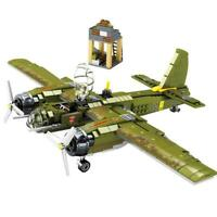WW2 Military Series Ju-88 Bombing Plane Building Blocks Helicopter Army Soldiers