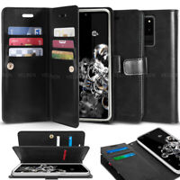 For Galaxy S20+ Ultra Note10+ 9 8 Dual Shockproof Flip Wallet leather Case Cover