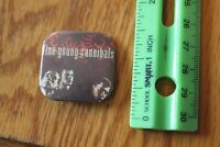 Vintage Pin back button FYC Fine Young Cannibals Band Rare concert badge square